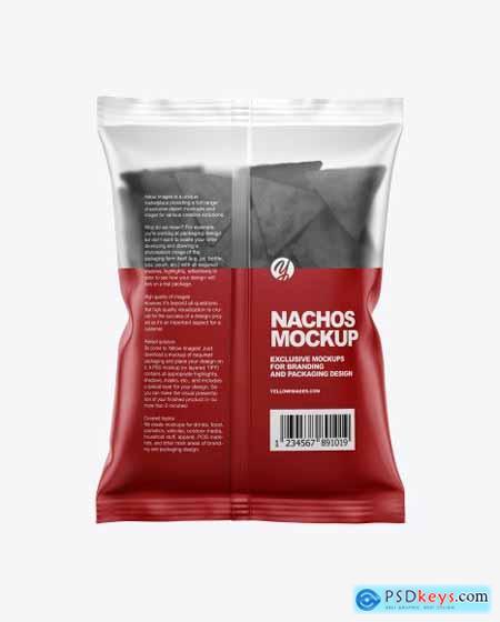 Matte Bag With Black Nachos Mockup 55940