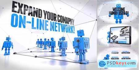 Videohive Robot Promo Intro 10438925