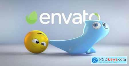 Videohive Ghost And Emoji Logo Reveal 20701342
