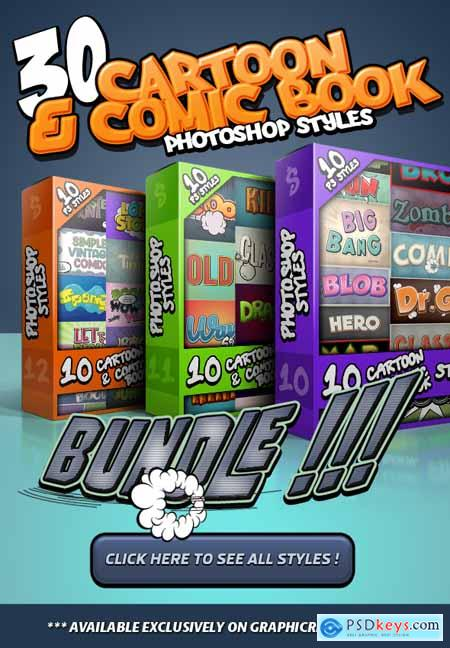 Cartoon and Comic Book Styles Bundle 4 25683872