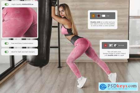 Leggings Mock-Up Gym Style 4505545