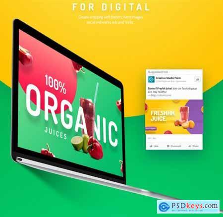 Organic Juice Premium Hero Templates 4539080