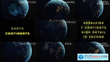 Videohive Earth Continents 24661756
