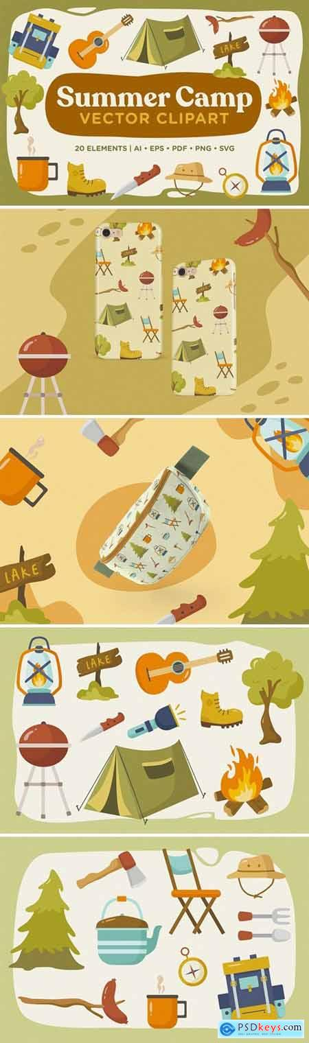 Summer Camp Vector Clipart Pack