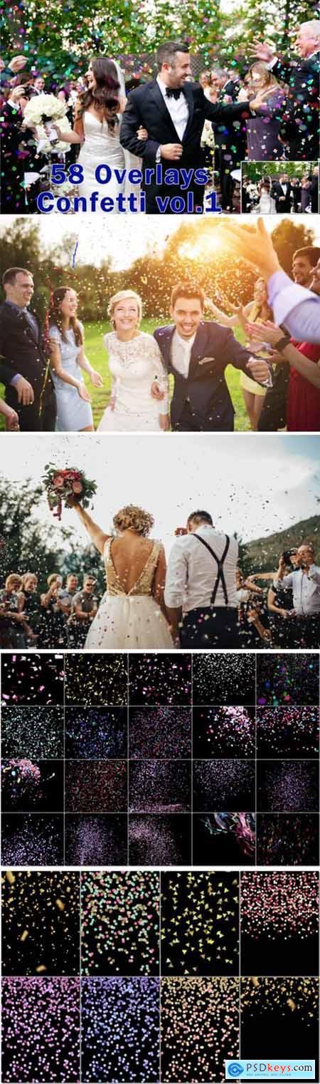 58 Falling Confetti Photo Overlays 2998868