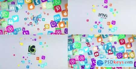 Social Media Flying Icons Logo Reveal 20672963