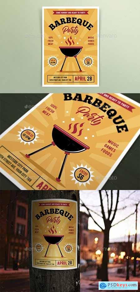 Retro Barbeque Party Flyers 25795355