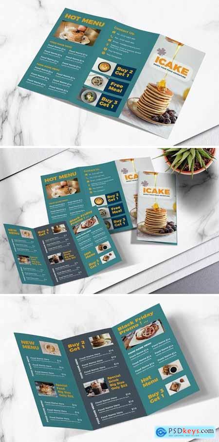 Food Menu Trifold Brochure Vol.05