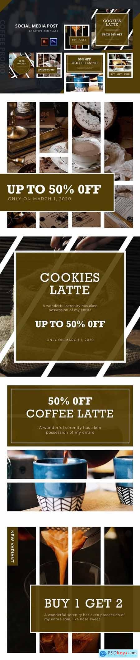Coffee Promo Social Media Post Template