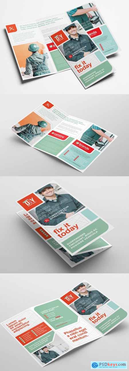 Diy Handyman Trifold Brochure Layout 324308613