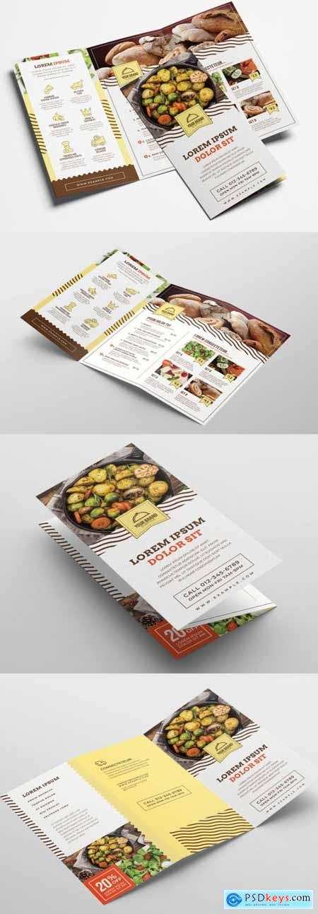 Catering Service Trifold Brochure Layout 324308593