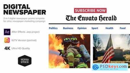 Online Newspaper Promotion 25802363