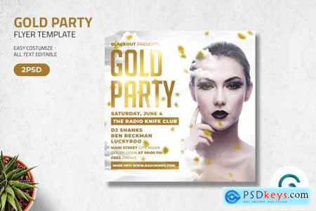 Gold Party Flyer Template 4571354