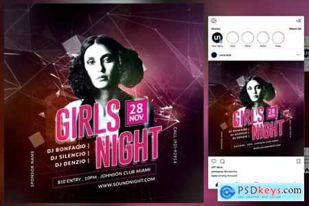 Girls Night Flyer 4579921