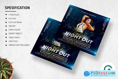 Ladies Night Out Flyer Template 4585272