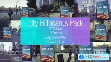 Videohive Billboards City Mockup Pack 23726584