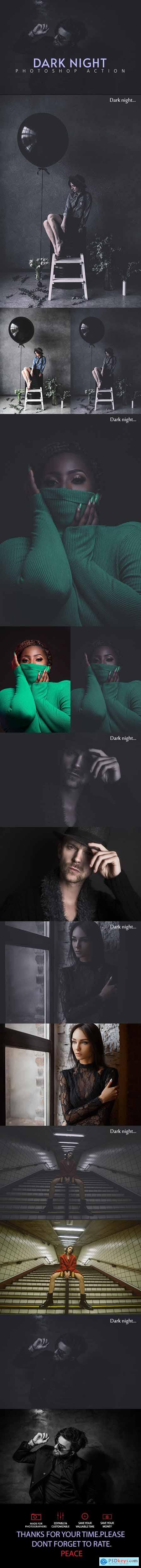Dark Night Photoshop Action 25606778