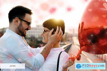 Heart Bokeh Photoshop Overlays 4548364