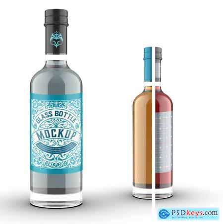 Colored Gin Bottle Packaging Mockup 324605251