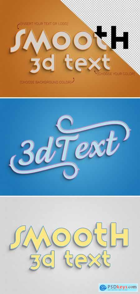 3D Text Effect Mockup with Stroke 324637168