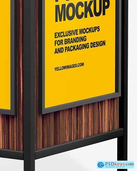 Advertising Rubbish Bin Mockup