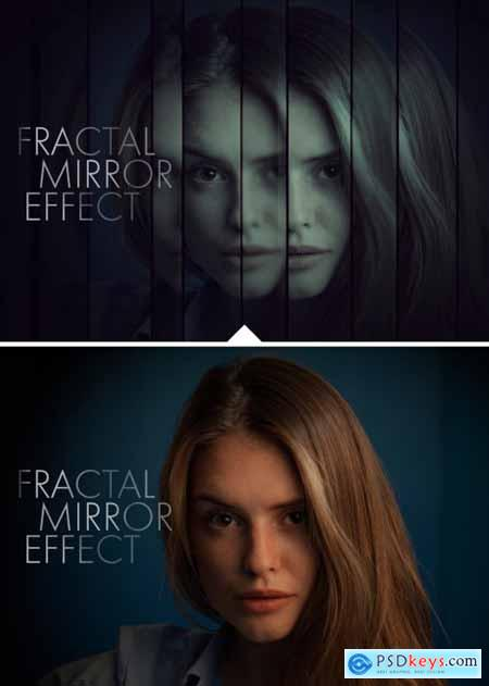 Fractal Mirror Photo Effect Mockup 324644865