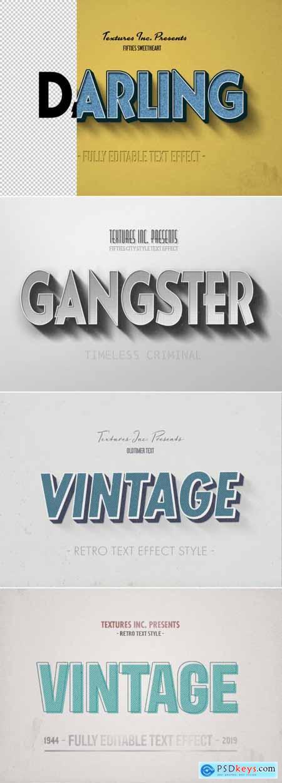 Vintage Text Effect Mockup Bundle 318976879
