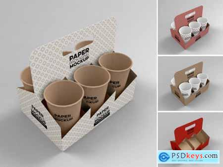 Paper 6 Cup Holder Top View Mockup 318968919