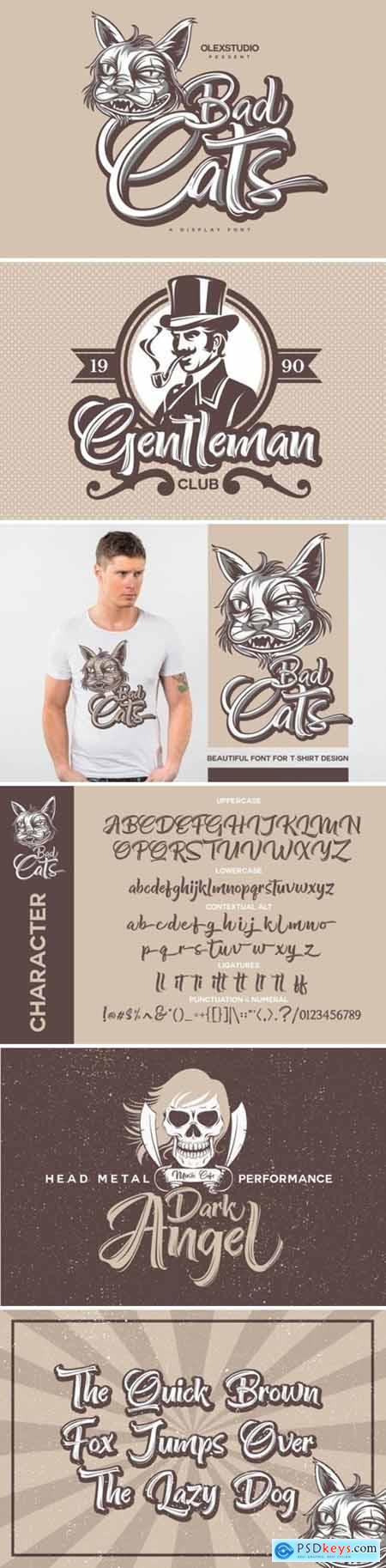 Bad Cats Font