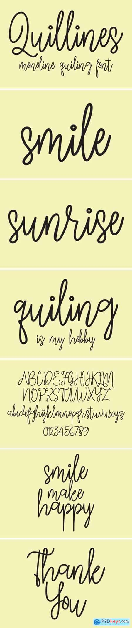 Quillines Font