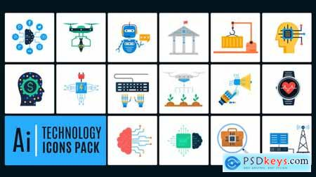 Ai Technology Icons Pack 25780984