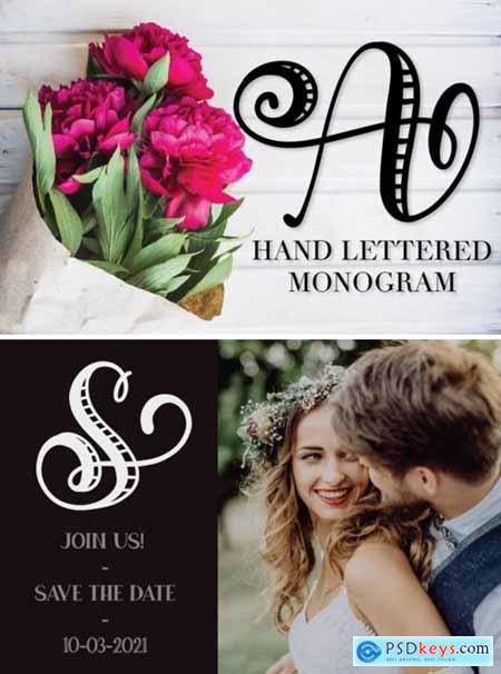 Monogram Striped Font