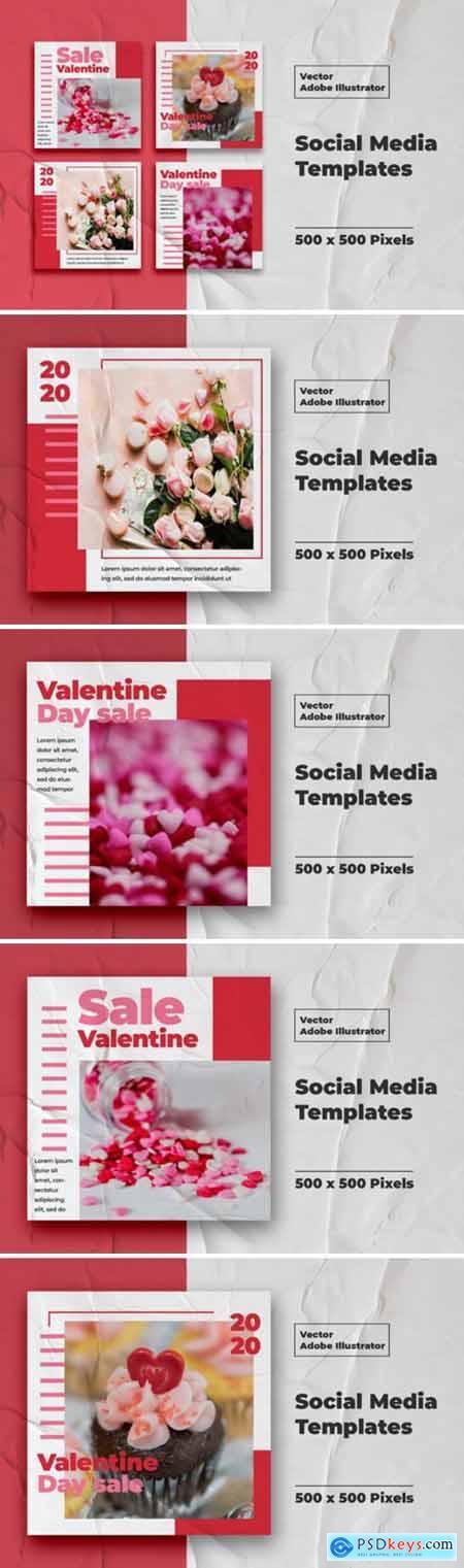Valentine Instagram Templates Vector 3008122