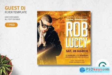 Guest DJ Flyer Template 4596494