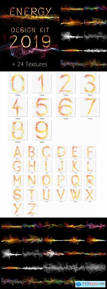 Energy Design Kit Abstract Wave Alphabet 3016496