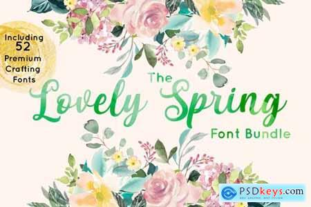 The Lovely Spring Font Bundle