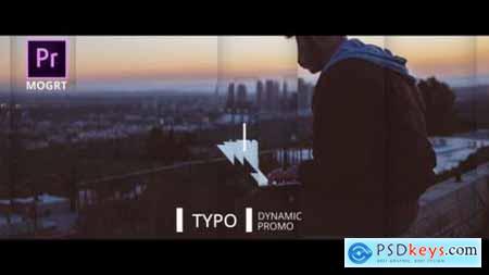 Dynamic Typo Promo Premiere Pro MOGRT 25828282