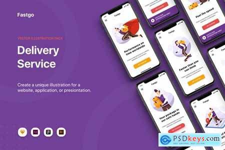 FASTGO - Delivery Service UI Kit