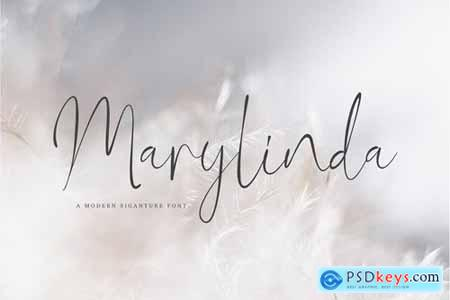 Marylinda Beauty and Modern Signature Font