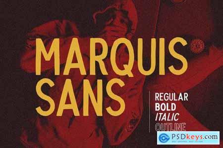 Marquis Sans - Hand Lettering Font