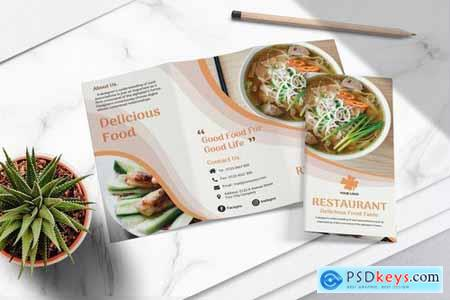 Food Menu Trifold Brochure Vol.01