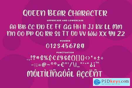 Queen Bear - Quirky Layered Font