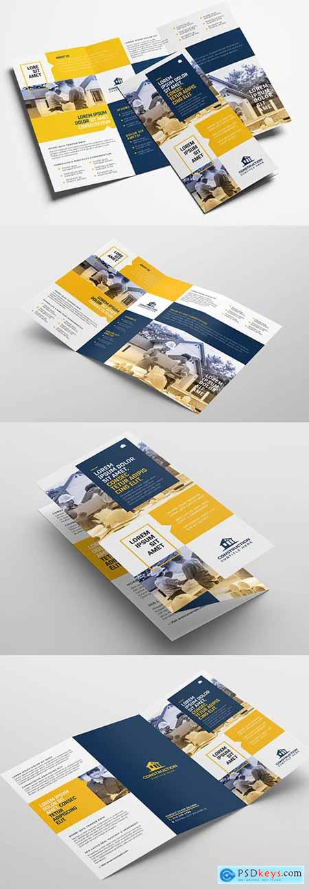 Construction Trifold Brochure Layout 325822460