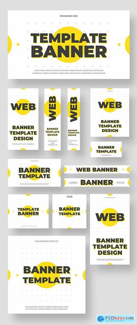 Web and Social Media Layouts with Yellow Accents 325795223