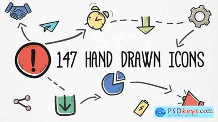 Hand-drawn Icons Pack 24679670