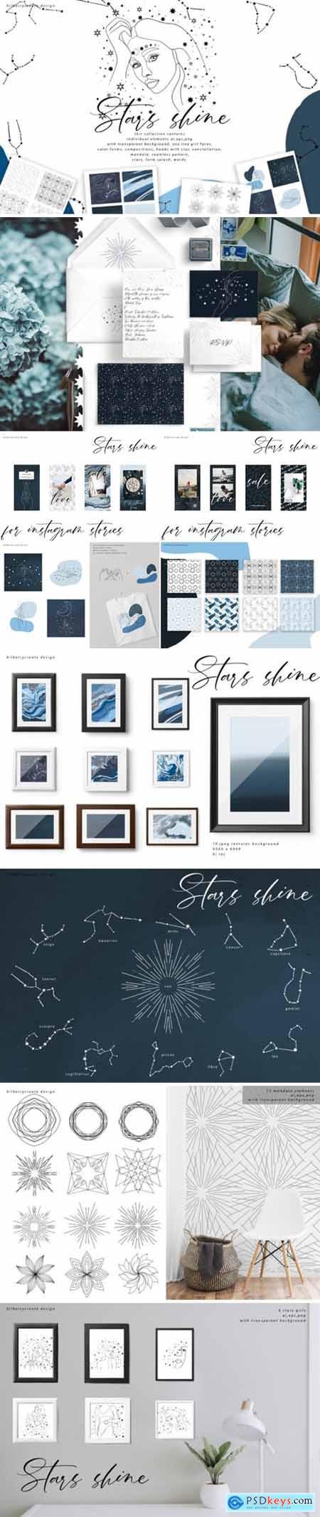 Stars Shine Art Set 3038759