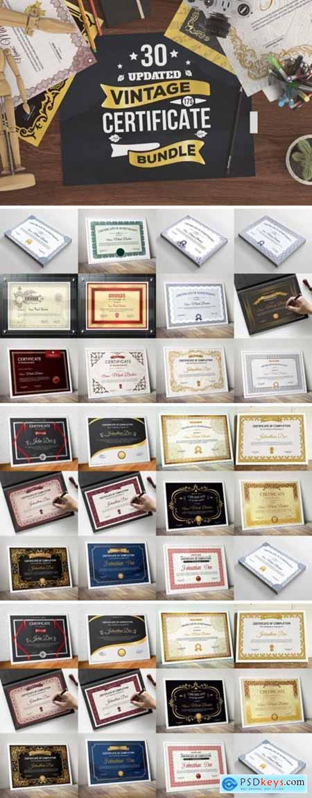Vintage Certificate Bundle 3038806