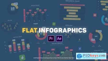 Flat Design Infographics MOGRT for Premiere Pro 25803249