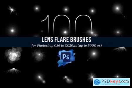 100 PS Lens Flares Brushes Vol 2 4443134
