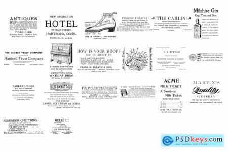 Vintage Ads 1 PS Brushes & Stamps 4316212